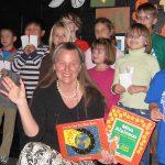 Debra Frasier with Ohio students