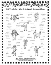 100 Vocabulary Words to Spark Costume Ideas
