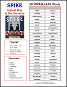 Spike Vocabulary Sheet